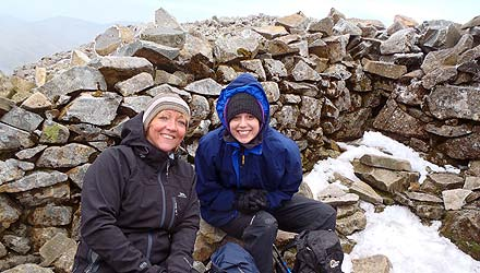 three peaks challenge training on Scafell Pike