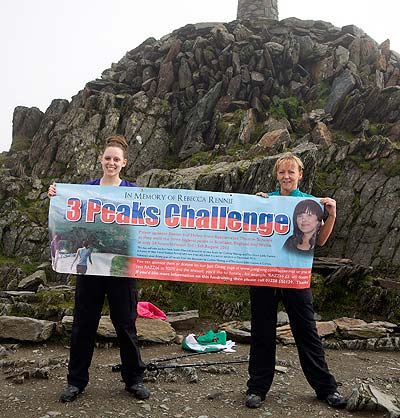 Snowdon finish for the three peaks challenge